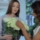 Florist Demonstrates Bouquet of Roses - VideoHive Item for Sale