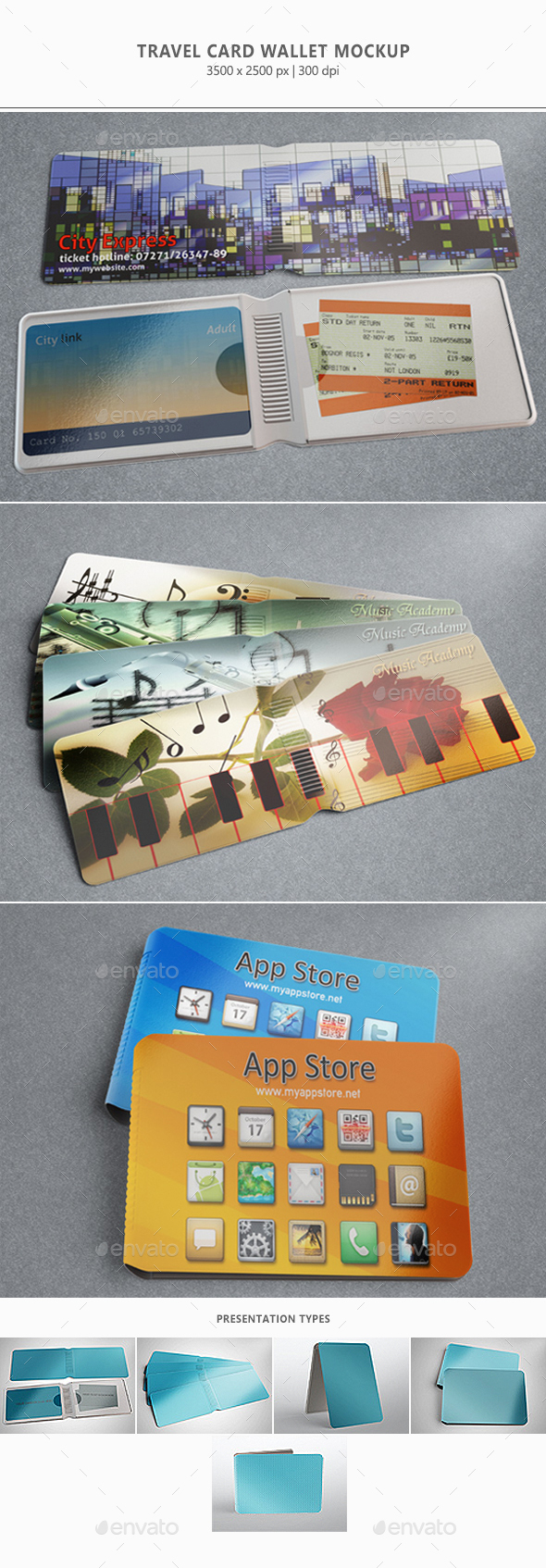 Travel Card Wallet Mock-up - Product Mock-Ups Graphics