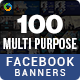 Facebook Ad Banners - 50 Designs - 2 Sizes Each - GraphicRiver Item for Sale