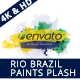 Rio Brazil Paint Splash Logo Revealer - VideoHive Item for Sale