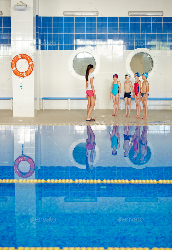 Lesson of swim - Stock Photo - Images