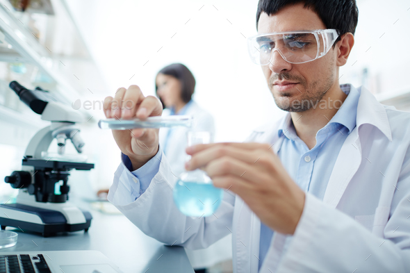 Clinician in lab - Stock Photo - Images