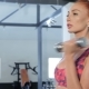 Woman Trains Her Bicepses At The Gym - VideoHive Item for Sale
