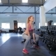 Woman Does Squats At The Gym - VideoHive Item for Sale