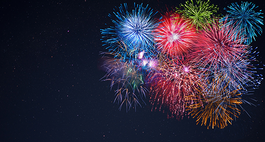 Holidays fireworks & fireworks background Photo