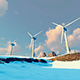 Panorama With Wind Power Plants - VideoHive Item for Sale