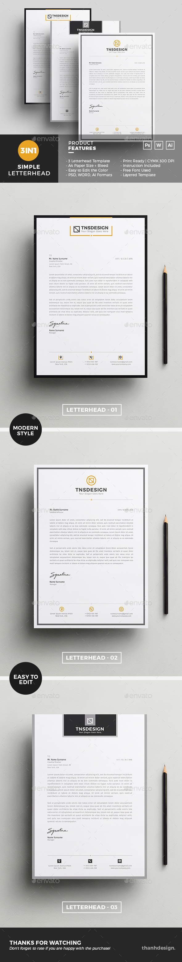 Letterhead template graphics designs templates spiritdancerdesigns Image collections