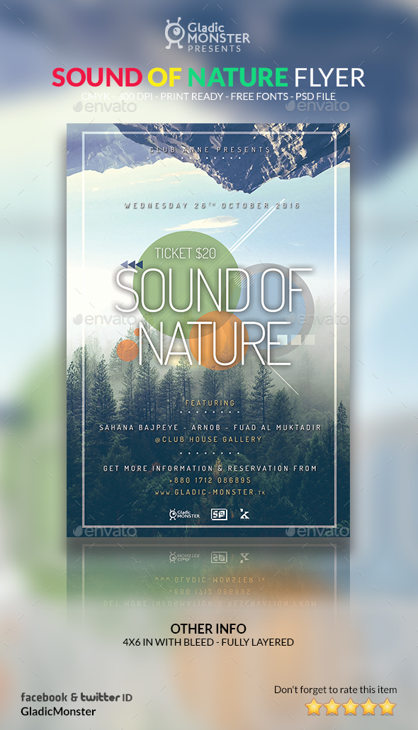 Sound of Nature Flyer - Events Flyers