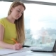 Girl Working With Laptop In Office - VideoHive Item for Sale