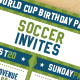 Vector Soccer Party Invites - GraphicRiver Item for Sale