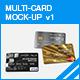 Multi-Card Mock-up v1 - GraphicRiver Item for Sale