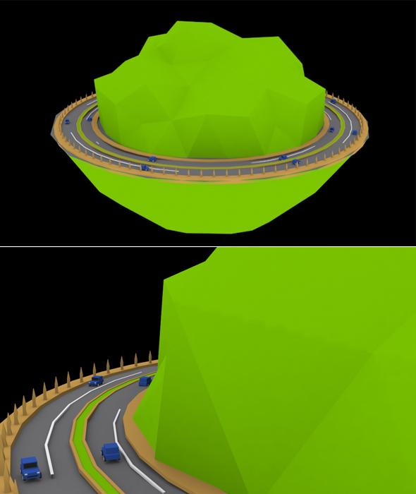 Hills Race 3d Model - 3DOcean Item for Sale