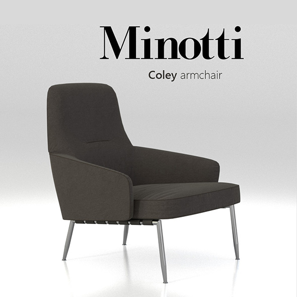 Minotti Coley Armchair - 3DOcean Item for Sale