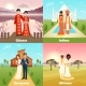 Multicultural Wedding Couples Design Concept - GraphicRiver Item for Sale