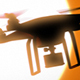 Quadcopter Drone On Background Of The Sun - VideoHive Item for Sale