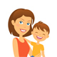 Mother with Child Happy Family - GraphicRiver Item for Sale