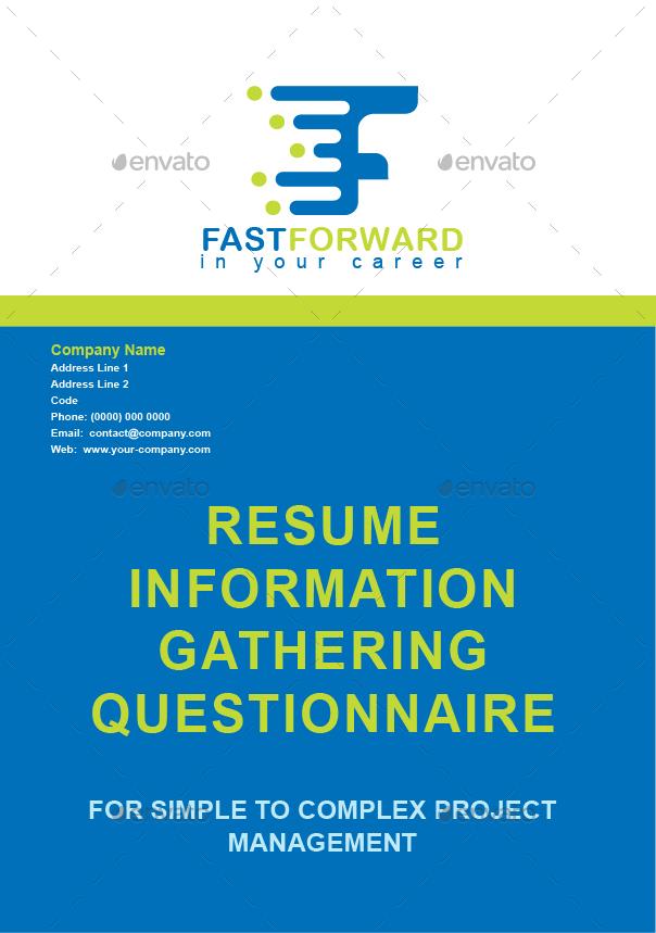 imagesresume inforrmation gathering questionnairejpg