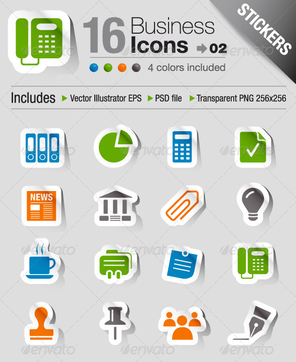 Stickers - Office And Business Icons 02 - Icons