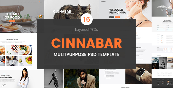 Cinnabar – Multipurpose PSD Template - PSD Templates