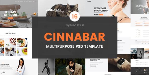 Cinnabar – Multipurpose PSD Template