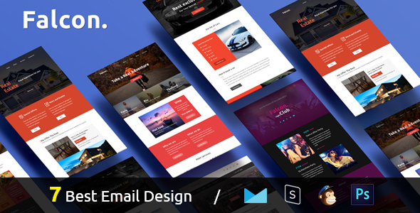 Falcon – Complete Email Package – Responsive Templates + Builder