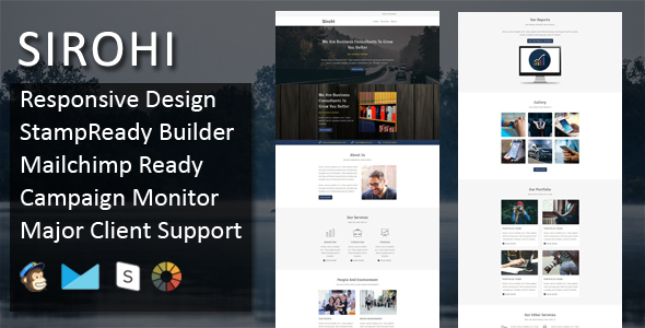 SIROHI – Multipurpose Responsive Email Template + Stampready Builder