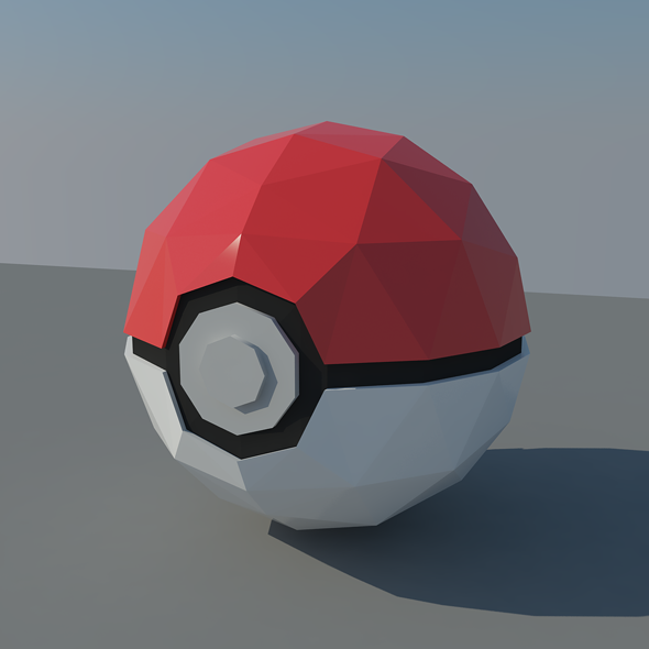 Pokemon Go Ball - 3DOcean Item for Sale