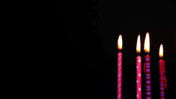 Happy Birthday Candles 9 Year Blurred Stock Footage