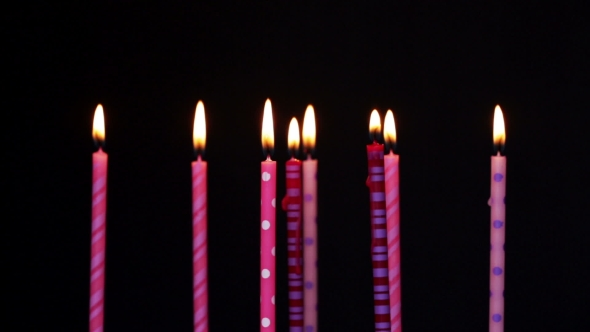 Happy Birthday Candles 8 Year Stock Footage