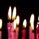 Lot Of Candles For Birthday Move From Left To Right And Rotate. - VideoHive Item for Sale