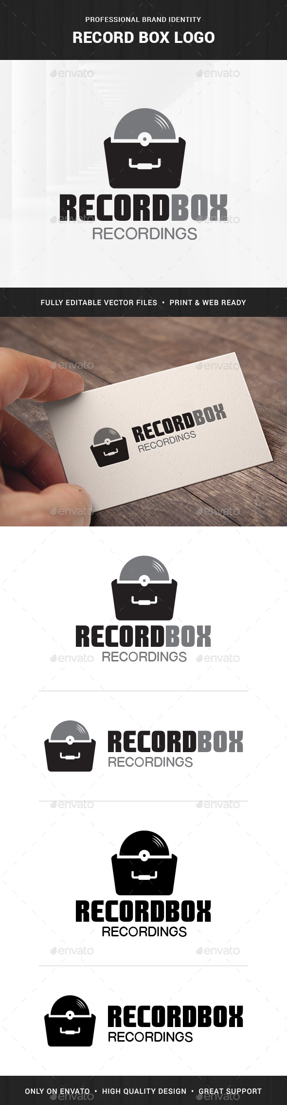 Record Box Logo Template - Objects Logo Templates