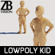 Lowpoly Kid 009 - 3DOcean Item for Sale