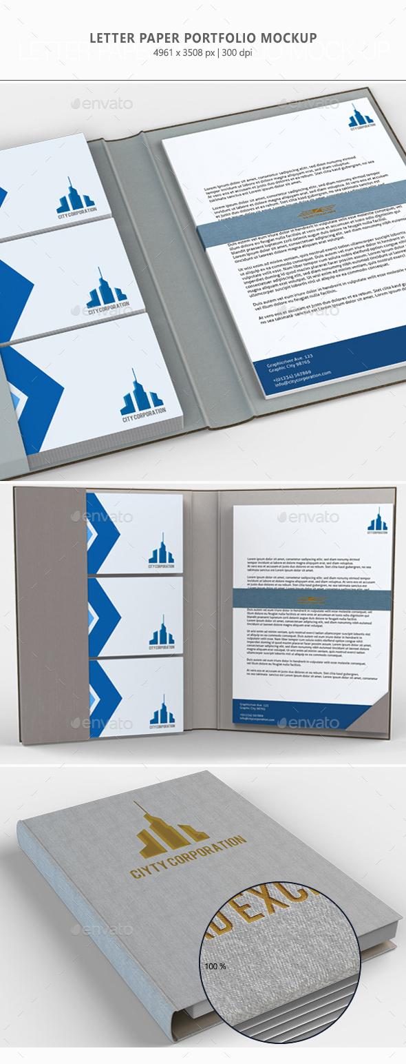 Letter Paper Portfolio Mock-up - Miscellaneous Print