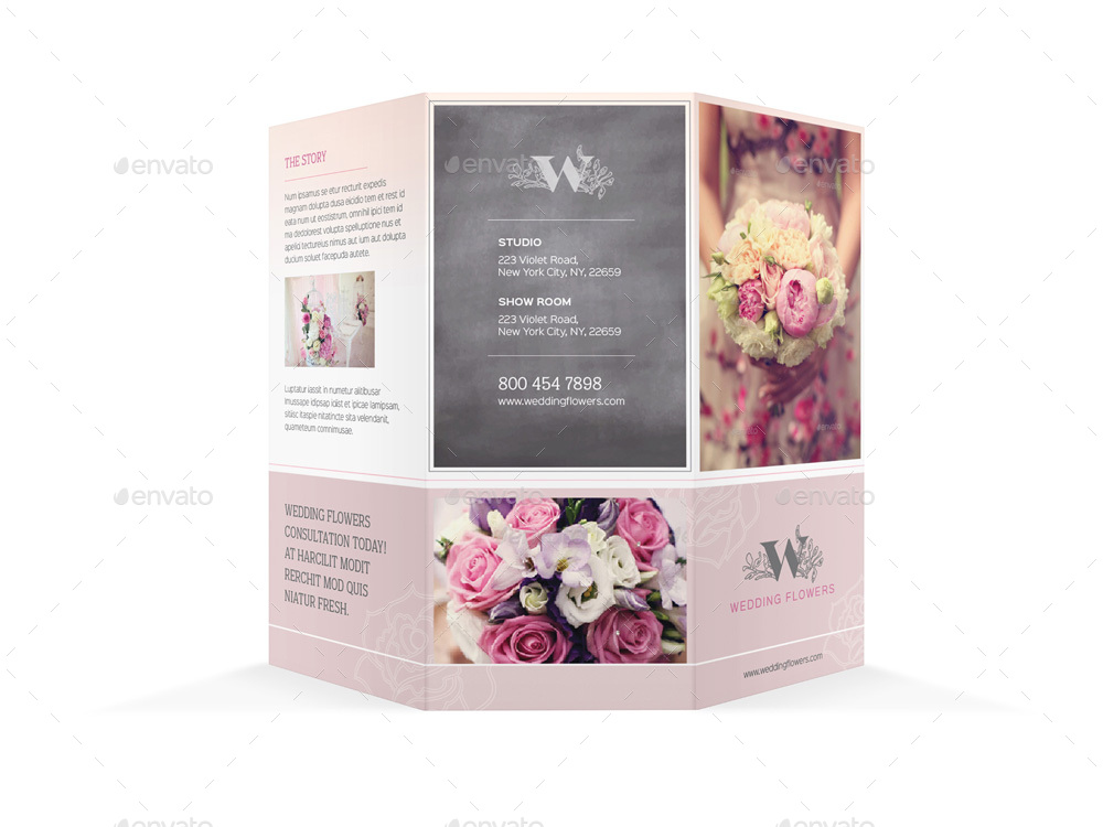wedding brochure template - wedding planner trifold brochure by mike pantone