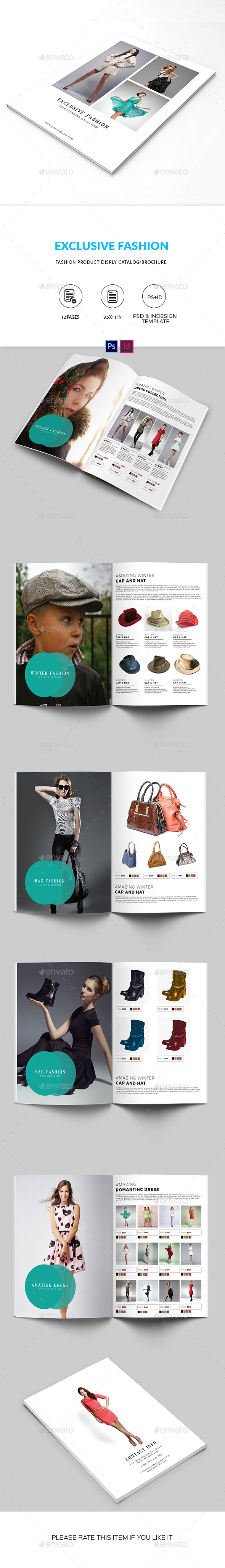 Minimal Fashion Product Display Brochure/Catalog - Catalogs Brochures