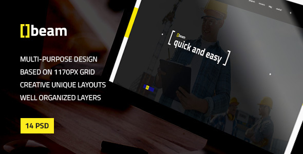 Beam — Modern Multipurpose PSD Template for Construction Business