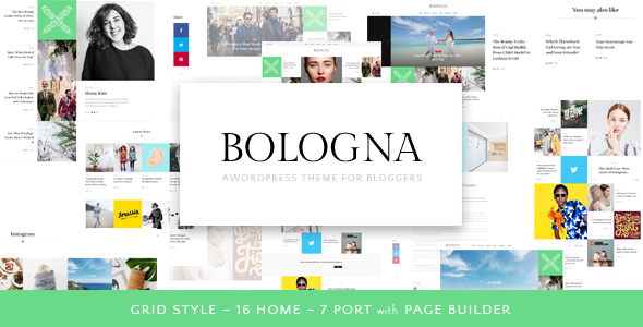 Bologna – Magazine Blog WordPress Theme - Responsive