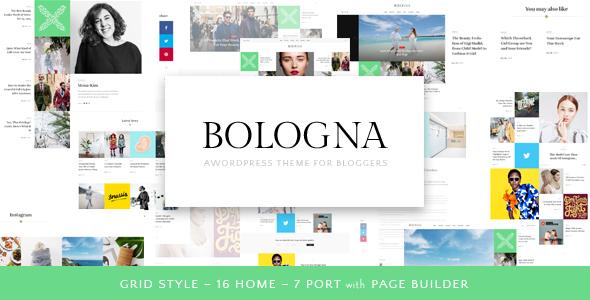 Bologna – Magazine Blog WordPress Theme – Responsive