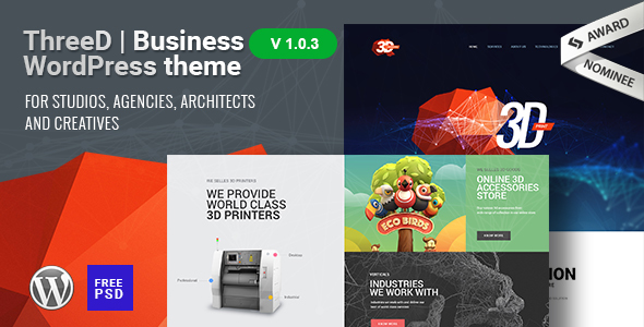 ThreeD | WordPress Theme for Architects, Studios & Agencies - Business Corporate