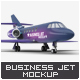 Business Jet Mock-Up - GraphicRiver Item for Sale