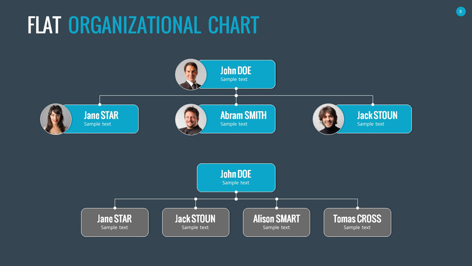Organizational Chart And Hierarchy Template By SanaNik GraphicRiver - Illustrator organizational chart template