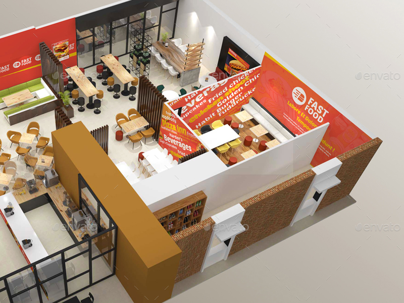 fast food restaurant floor plan. modern floorplans an average