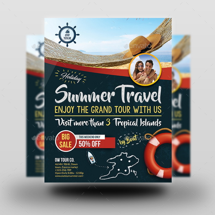 Tour And Travel Flyer Template Vol2 By Owpictures Graphicriver