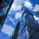Modern Reflective Skyscrapers Against Cloudy Sky - VideoHive Item for Sale