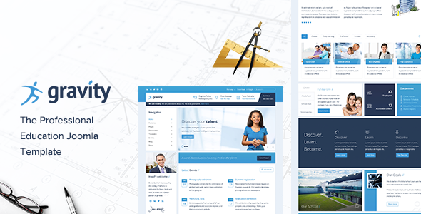 Gravity Education – Learning, School & Education Joomla Template