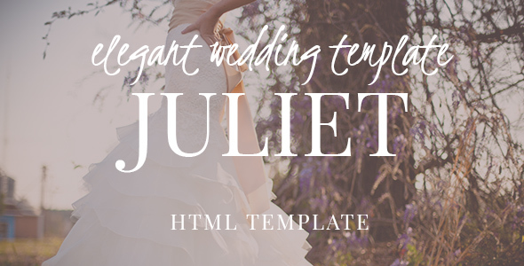 Juliet – Ultimate Ceremony & Wedding HTML5 template