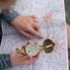 Woman Traveler Uses a Compass And Map - VideoHive Item for Sale