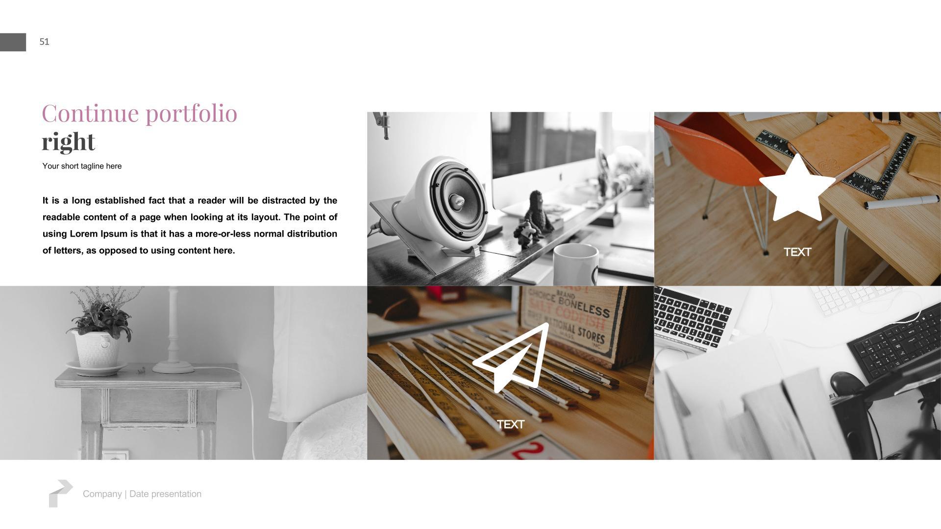Slides Online Portfolio Presentation