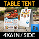 Seafood Restaurant Table Tent Template - GraphicRiver Item for Sale