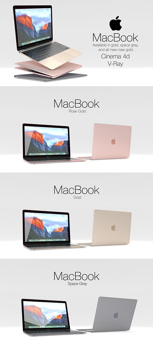 Apple MacBook  - 3DOcean Item for Sale